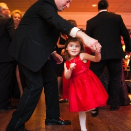 This flower girl captivated the whole dance floor at the reception