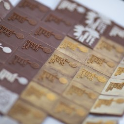 Piq Chocolates embossed the Wildflower Center logo onto each of their hand-crafted chocolates - incredible!