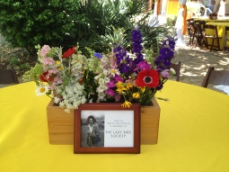 Gorgeous locally-grown florals, handmade planter boxes, and a tribute to Mrs. Johnson.